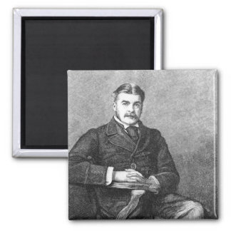 Sir Arthur Sullivan, engraved by C. Carter 2 Inch Square Magnet