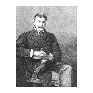 Sir Arthur Sullivan, engraved by C. Carter Canvas Print