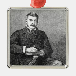 Sir Arthur Sullivan, engraved by C. Carter Metal Ornament