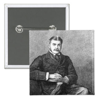 Sir Arthur Sullivan, engraved by C. Carter Pinback Button