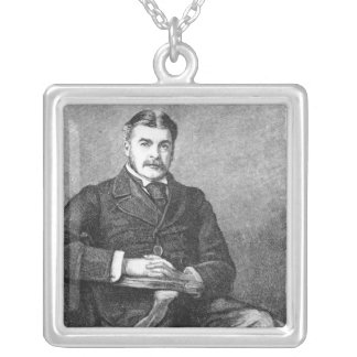 Sir Arthur Sullivan, engraved by C. Carter Silver Plated Necklace