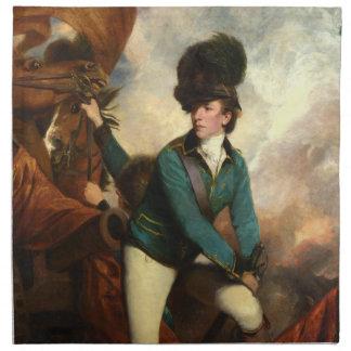 Sir Banastre Tarleton by Joshua Reynolds Cloth Napkin