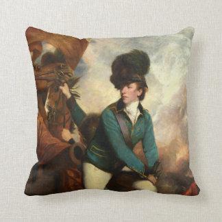 Sir Banastre Tarleton by Joshua Reynolds Throw Pillow