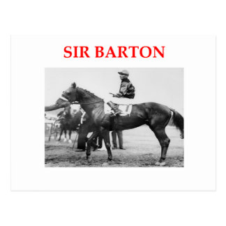 sir barton postcard