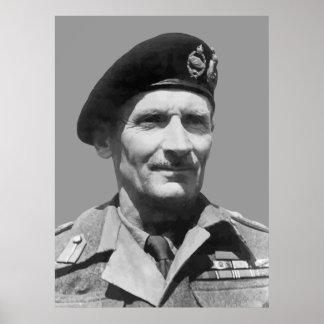 Sir Bernard Law Montgomery Poster
