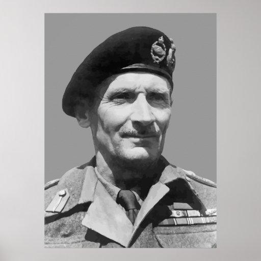 Sir Bernard Law Montgomery Póster