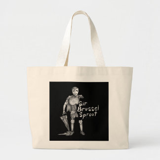 Sir Brussel Sprout Large Tote Bag