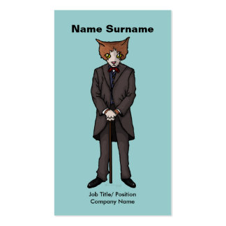 Sir Cat, business card Pack Of Standard Business Cards