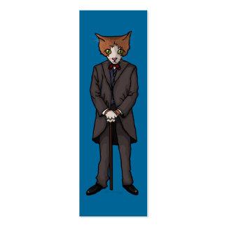 Sir Cat, paquete de la señal o tarjetas de visita