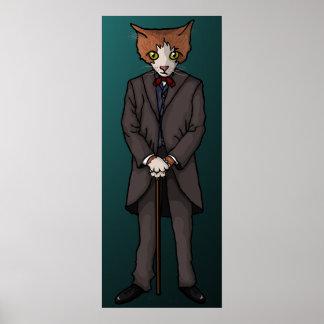 Sir Cat, print Poster