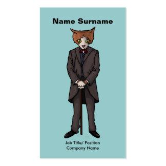 Sir Cat, tarjeta de visita