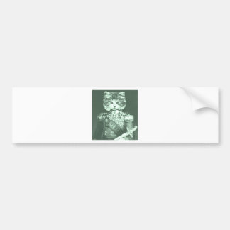 Sir Cat Whiskers Car Bumper Sticker