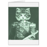 Sir Cat Whiskers Greeting Card