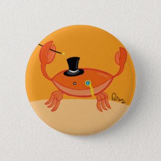 Sir Crustacean Pinback Button