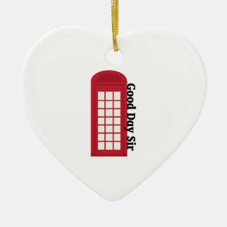 Sir del día de Phonebooth_Good Adorno De Cerámica En Forma De Corazón