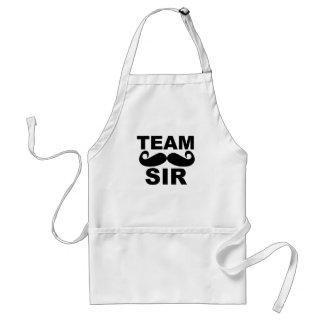Sir del equipo - novio T-Shirts.png del equipo Delantal