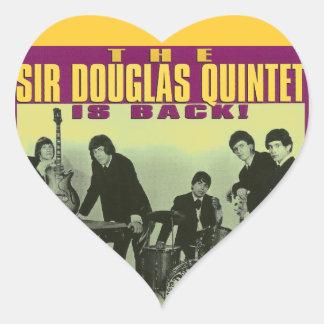 Sir Douglas Quintet Heart Stickers