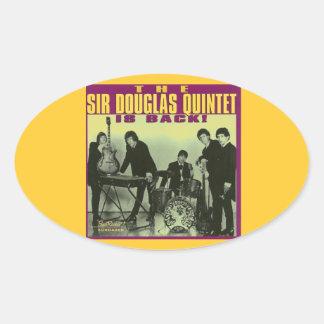 Sir Douglas Quintet Oval Stickers