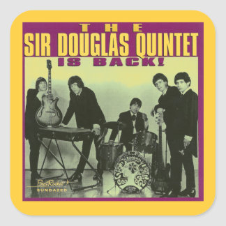 Sir Douglas Quintet Square Stickers
