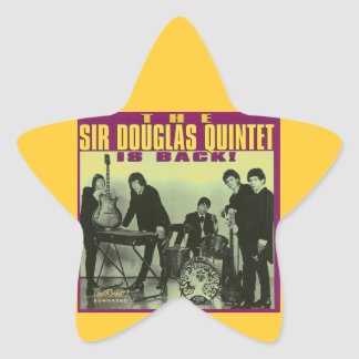 Sir Douglas Quintet Star Sticker