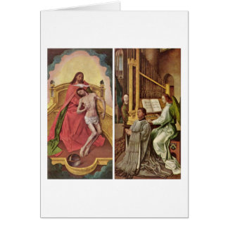 Sir Edward Boncle (Right Panel) By Hugo Van Goes Greeting Card