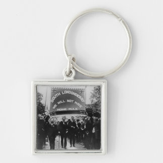 Sir Edward Carson Silver-Colored Square Keychain