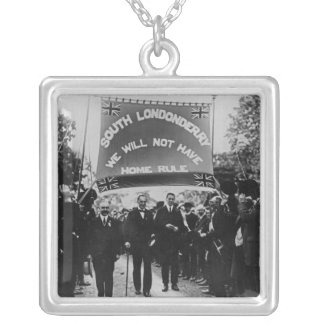 Sir Edward Carson Silver Plated Necklace