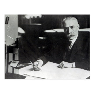 Sir Edward Elgar work on one  orchestral scores Postcard