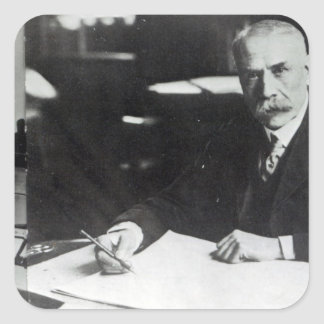 Sir Edward Elgar work on one  orchestral scores Square Sticker