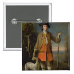 Sir Edward Hales, 1744 (oil on canvas) 2 Inch Square Button