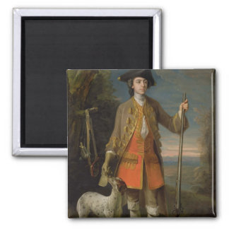 Sir Edward Hales, 1744 (oil on canvas) 2 Inch Square Magnet