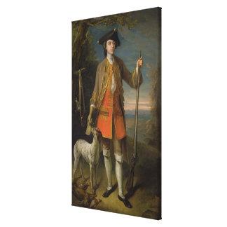 Sir Edward Hales, 1744 (oil on canvas) Canvas Print