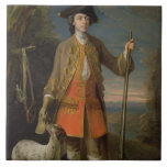 Sir Edward Hales, 1744 (oil on canvas) Large Square Tile
