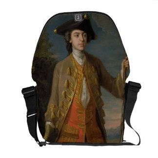 Sir Edward Hales, 1744 (oil on canvas) Messenger Bag