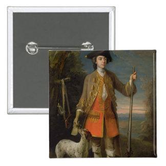 Sir Edward Hales, 1744 (oil on canvas) Pinback Button