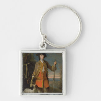 Sir Edward Hales, 1744 (oil on canvas) Silver-Colored Square Keychain