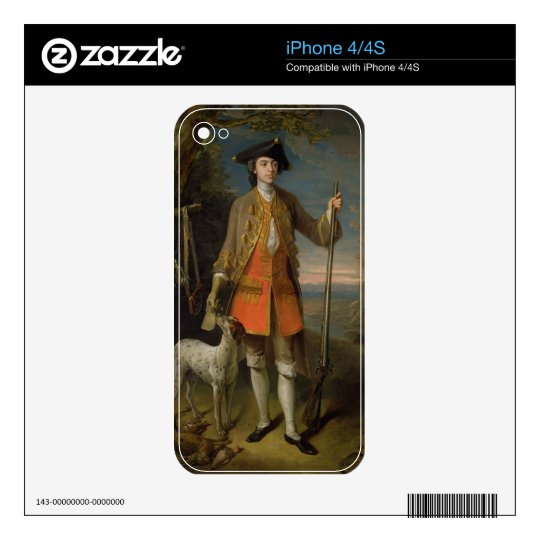 Sir Edward Hales, 1744 (oil on canvas) Skins For iPhone 4S
