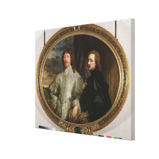 Sir Endymion Porter (1587-1649) and the Artist, c. Canvas Print