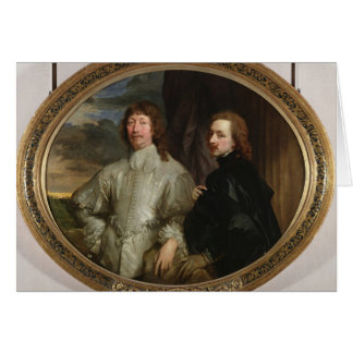 Sir Endymion Porter (1587-1649) and the Artist, c. Card