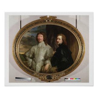 Sir Endymion Porter (1587-1649) and the Artist, c. Poster