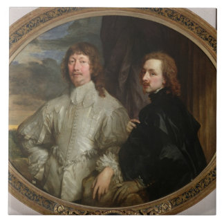 Sir Endymion Porter (1587-1649) y el artista, C. Azulejo Cerámica