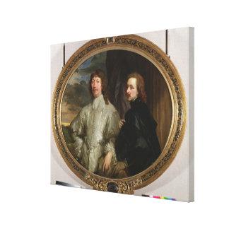Sir Endymion Porter (1587-1649) y el artista, C. Impresiones En Lona Estiradas