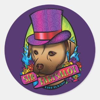 Sir Fartsalot Round Sticker