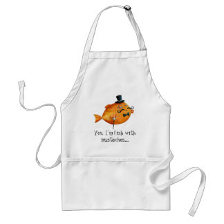 Sir Fishy Mustached Fish Apron