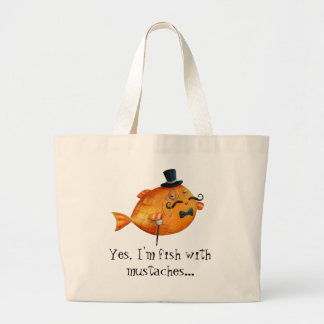 Sir Fishy Mustached Fish Bags