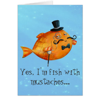 Sir Fishy Mustached Fish Cards