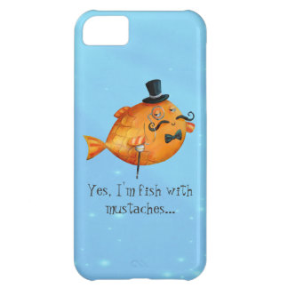 Sir Fishy Mustached Fish Case For iPhone 5C