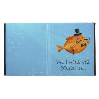 Sir Fishy Mustached Fish iPad Folio Case