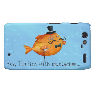 Sir Fishy Mustached Fish Droid RAZR Cover