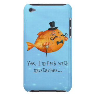 Sir Fishy Mustached Fish Barely There iPod Covers